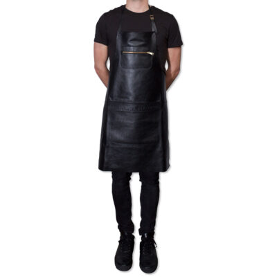 apron zipper leather black by Dutchdeluxes