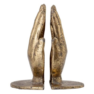 bookends hands brass metal by Bloomingville