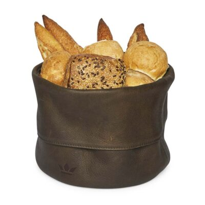 bread basket ben leather vintage brown Dutchdeluxes