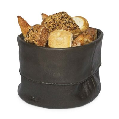 bread basket ben leather vintage grey Dutchdeluxes