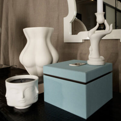 hand eve candle holder by Jonathan Adler