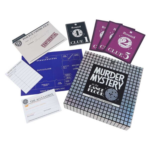 host your own murder mystery on the dancefloor by Talking tables