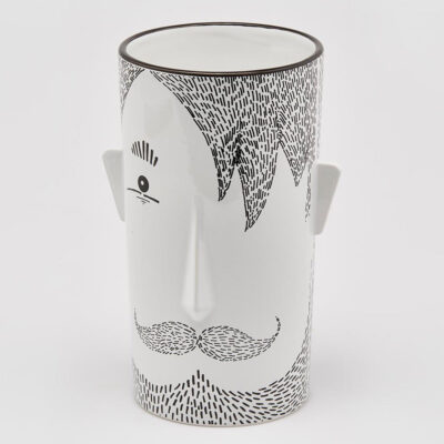 moustache man face vase large