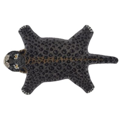Rug Leopard Black by Classic Collection