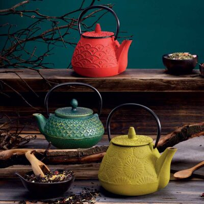 Akita red Cast Iron teapot by Neavita
