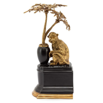 gold Monkey bookend left by Abhika