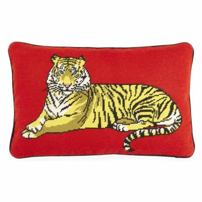 Safari Needlepoint Pillow by Jonathan Adler