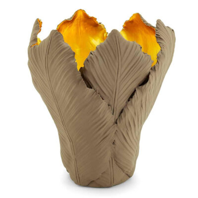 Tulip candle holder brown and gold by Abhika