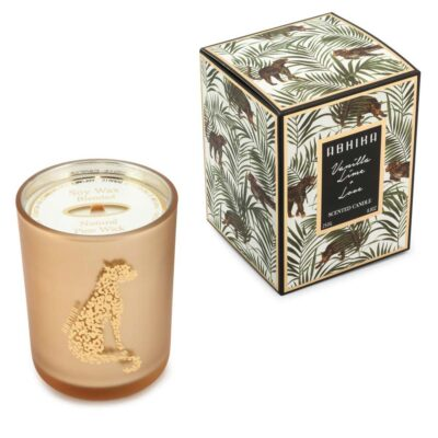 Vanilla lime scented candle by Abhika