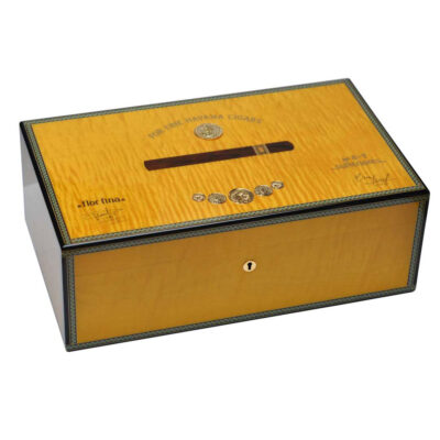 medal 120 cigars yellow humidor by Elie Bleu