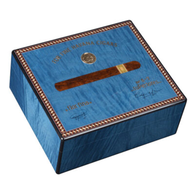 medal 50 cigars blue humidors by Elie Bleu