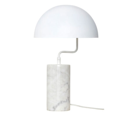 table lamp white metal marble by Hubsch