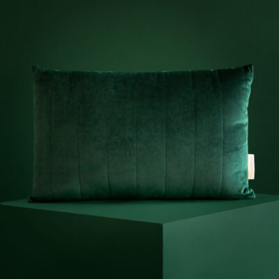 Akamba cushion savanna velvet jungle green by Nobodinoz