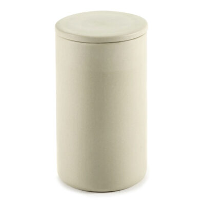 Box with lid round L beige Cose designed by Bertrand Lejoly Serax