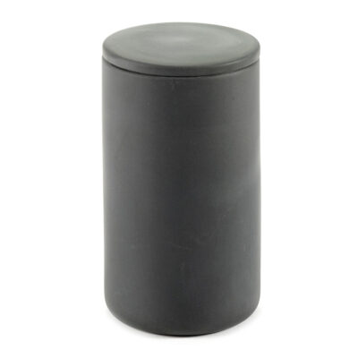Box with lid round L grey Cose designed by Bertrand Lejoly Serax