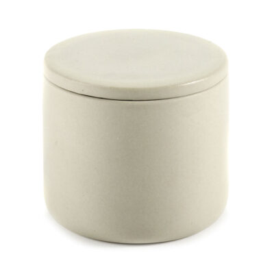 Box with lid round S beige Cose designed by Bertrand Lejoly Serax