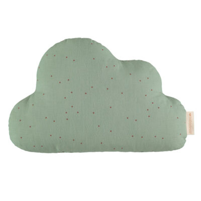 Cloud cushion toffee sweet dots eden green by Nobodinoz