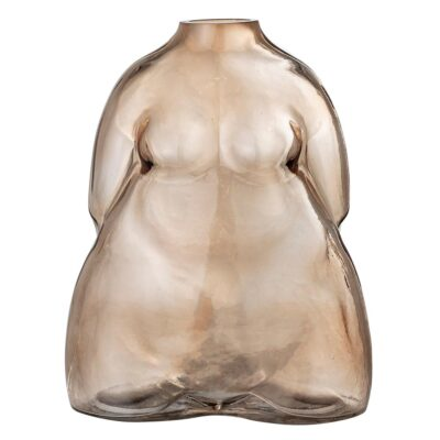 Evie Body Brown Glass Vase by Bloomingville