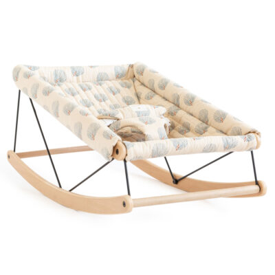 Growing green baby bouncer blue gatsby cream by nobodinoz