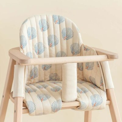 Growing green high chair cushion blue gatsby cream by Nobodinoz
