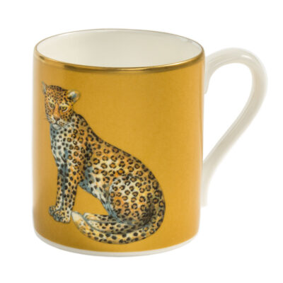 Leopard Mug gold by Halcyon Days