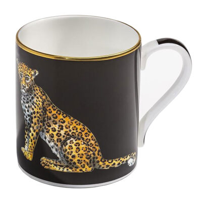 Leopard Mug black by Halcyon Days