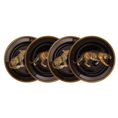 Leopard tiger coaster set of 4 by Halcyon Days