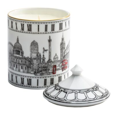 London icons lidded candle by Halcyon Days