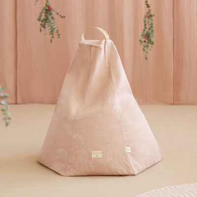 Marrakech beanbag white bubble misty pink by nobodinoz