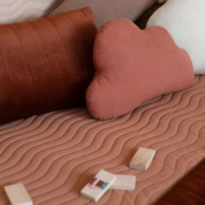 Monaco floor mattress sienna brown by Nobodinoz