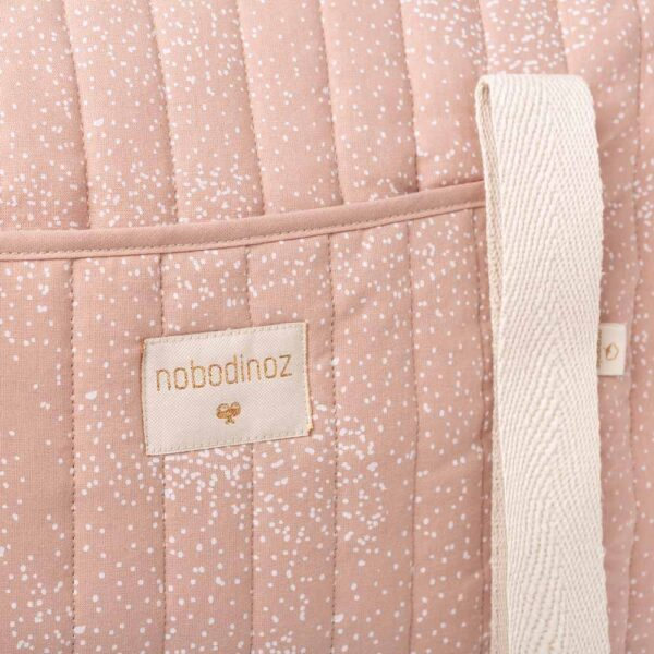 New York weekend bag white bubble misty pink by nobodinoz