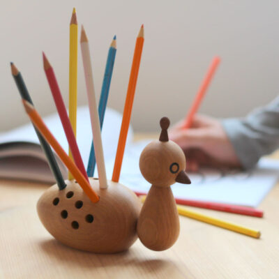 Peacock pencils holder by EO