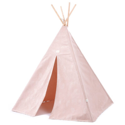 Phoenix teepee white bubble misty pink by Nobodinoz