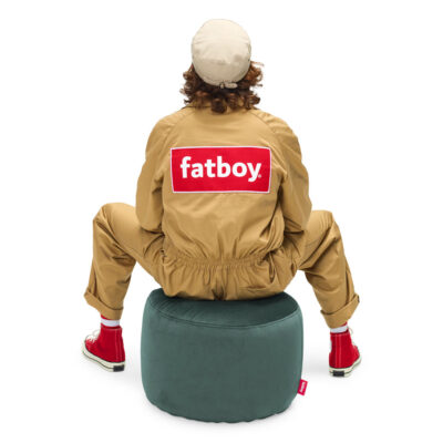 Point velvet petrol pouffe by Fatboy