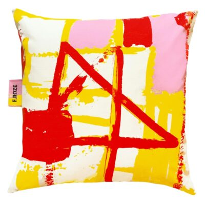 Red Splash 60x60 cm cushion cover by F.Rroze