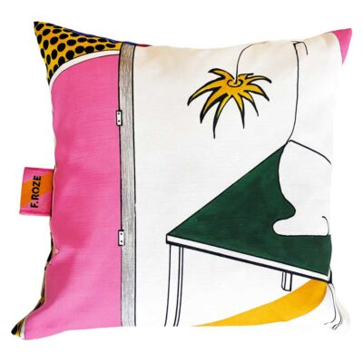 Sixties Door 40x40 cm cushion cover by F.Roze