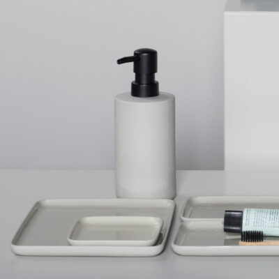 Soap dispenser beige Cose designed by Bertrand Lejoly Serax
