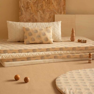 St Barth floor mattress blue gatsby cream by Nobodinoz
