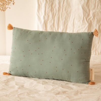 Sublim cushion toffee dots eden green by nobodinoz