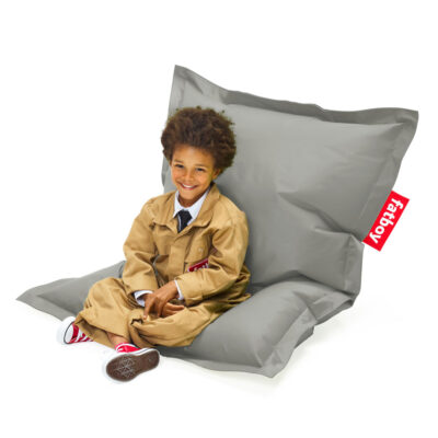 The original Junior silver beanbag by Fatboy