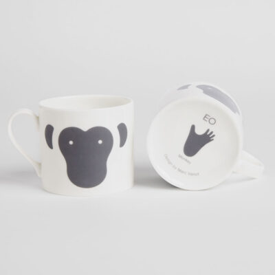 animal mug monkey by EO