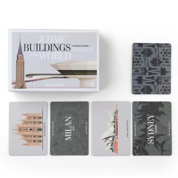 memory game famous buildings by Printworks