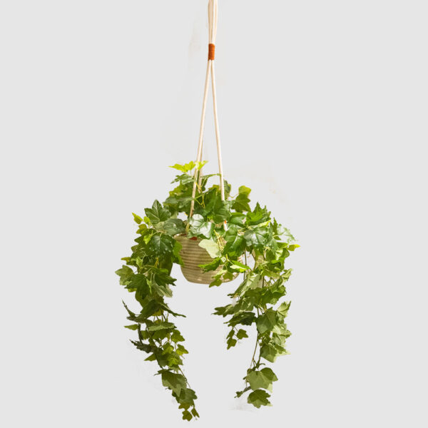Hanging Faux Plant with Basket