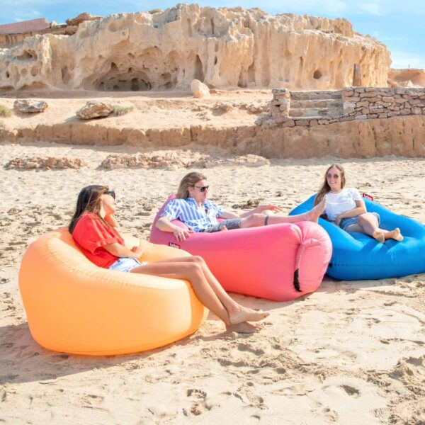 Lamzac O Inflatable seat 2.0 Peach Jelly by Fatboy
