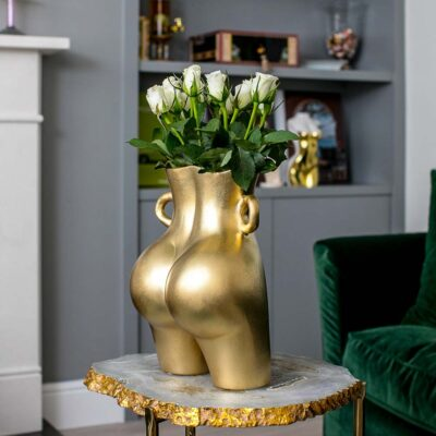 Latzio ceramic gold bum vase