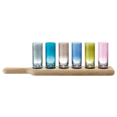 Paddle Vodka Set & Oak Paddle L40cm