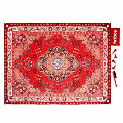 Picnic Lounge red outdoor rug by Fatboy