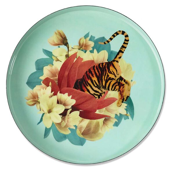 Round tray Tiger Flower by Gangzai