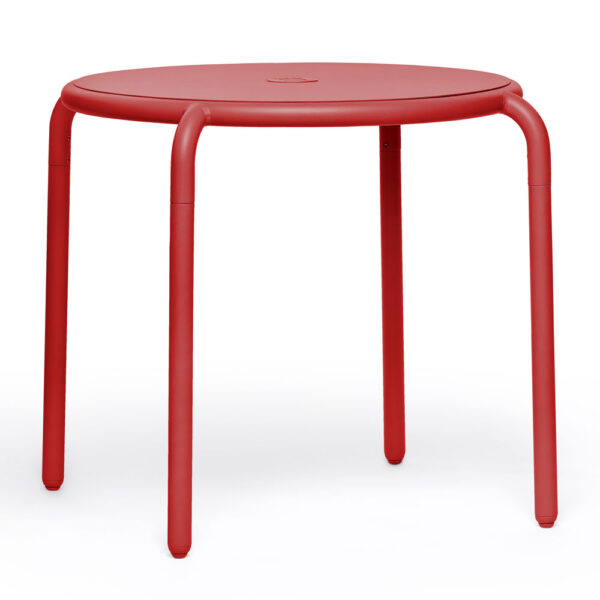 Toni bistreau outdoor round table red by Fatboy