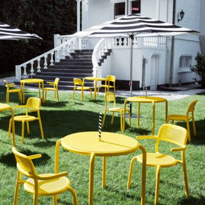 Toni bistreau outdoor round table yellow by Fatboy